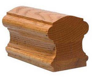 pegangan tangga kayu