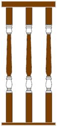 Baluster Tangga Kayu