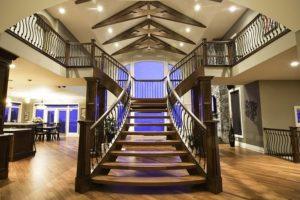 Model tangga kayu bentuk Y